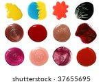 set of nail polish and lip... | Shutterstock . vector #37655695