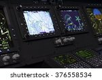 control panel in military... | Shutterstock . vector #376558534