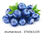 Isolated Blueberries. Pile Of...