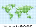 world map. set 4. | Shutterstock .eps vector #376562035