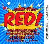 alphabet collection set. comic... | Shutterstock .eps vector #376564951