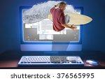 an internet web surfer is... | Shutterstock . vector #376565995