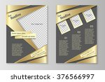 vector flyer template design...   Shutterstock .eps vector #376566997
