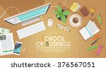 a business activity. workplace. ... | Shutterstock .eps vector #376567051