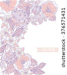 vector floral card template... | Shutterstock .eps vector #376571431