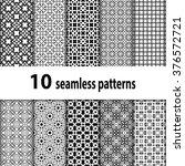 10 geometric seamless patterns... | Shutterstock .eps vector #376572721