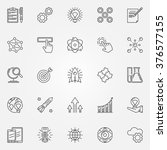 innovation icons set   vector... | Shutterstock .eps vector #376577155