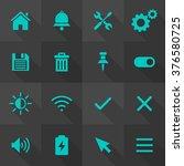 vector flat icon set   user... | Shutterstock .eps vector #376580725