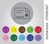certificate icon | Shutterstock .eps vector #376581367