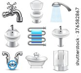 Plumbing Icons Detailed Photo...