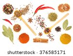 Colorful Spices And Herbs For...