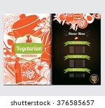 vegetarian menu restaurant... | Shutterstock .eps vector #376585657