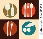 menu restaurant design  | Shutterstock .eps vector #376586314