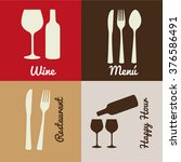 menu restaurant design    Shutterstock .eps vector #376586491
