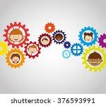 gears concept design  | Shutterstock .eps vector #376593991