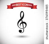 treble clef icon vector | Shutterstock .eps vector #376595485