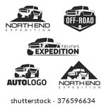 set of modern suv pickup... | Shutterstock .eps vector #376596634