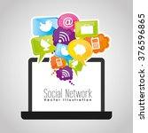 social network design  | Shutterstock .eps vector #376596865