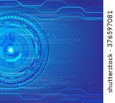 vector speed technology... | Shutterstock .eps vector #376597081