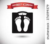 floor scales icon vector | Shutterstock .eps vector #376599379