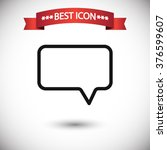 chat speech icon vector