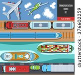 transportation colorful icons... | Shutterstock .eps vector #376602259