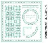 vintage frame pattern set 169... | Shutterstock .eps vector #376604071