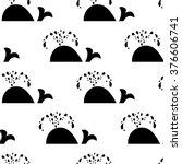 whale seamless pattern.  | Shutterstock .eps vector #376606741