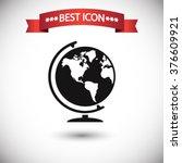 globe icon vector | Shutterstock .eps vector #376609921