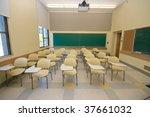 empty classrooms in college | Shutterstock . vector #37661032