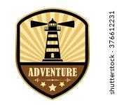 adventure retro label  vector... | Shutterstock .eps vector #376612231