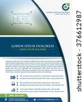 vector brochure  flyer ... | Shutterstock .eps vector #376612987