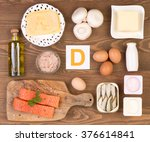 vitamin d containing foods | Shutterstock . vector #376614841