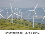 many windmills in a hill | Shutterstock . vector #37661542
