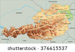 high detailed austria physical... | Shutterstock .eps vector #376615537