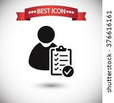user checklist icon vector | Shutterstock .eps vector #376616161