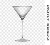 empty realistic glass isolated... | Shutterstock . vector #376619305