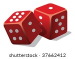two dice | Shutterstock .eps vector #37662412