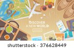 Flat Vector Web Banner On The...