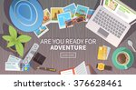 flat vector web banner on the... | Shutterstock .eps vector #376628461