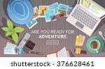 flat vector web banner on the... | Shutterstock .eps vector #376628461