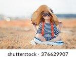 Pretty Little Girl In A Striped ...