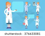 medical doctor woman icon set... | Shutterstock .eps vector #376633081