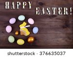 easter rabbit and easter egg | Shutterstock . vector #376635037