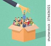 recruitment hand picking... | Shutterstock .eps vector #376636321