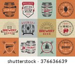 Set Of Wooden Casks With...