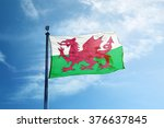 Flag Of Wales On The Mast