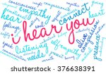 i hear you word cloud on a... | Shutterstock .eps vector #376638391