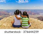Girls At Grand Canyon