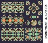 set of decorative elements | Shutterstock .eps vector #376645615
